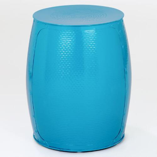 Pagoda Blue Drum Stool