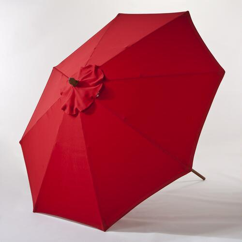 9-Ft. Pompeian Red Umbrella