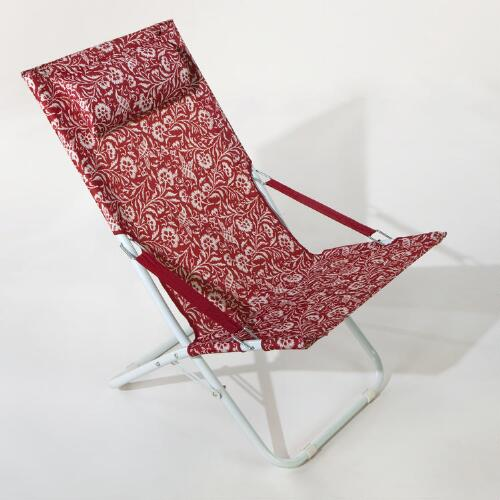 Parnavi Red Beach Chair