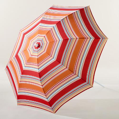 Orange & Red Beach Umbrella