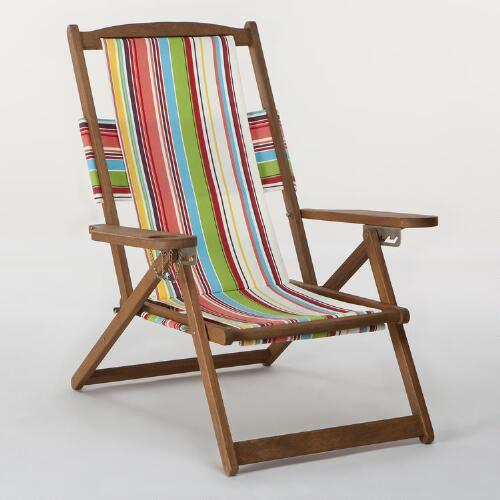 Bali Stripe 5-Position Chair Canvas