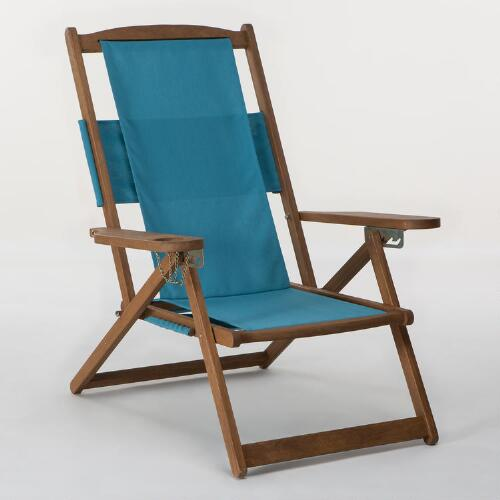 Pagoda Blue 5-Position Chair Canvas