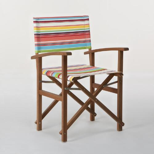 Striped Bali Club Chair Canvas