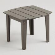 Gray Coastal Adirondack Side Table