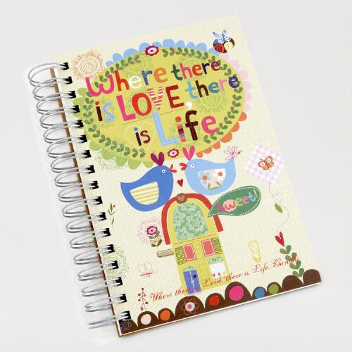 Ecojot Where There is Love Spiral-Bound Journal