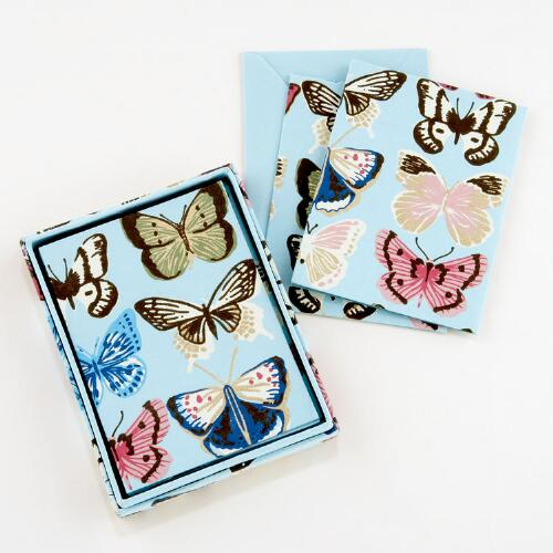 Butterfly Handmade Paper Boxed Cards, Set of 8