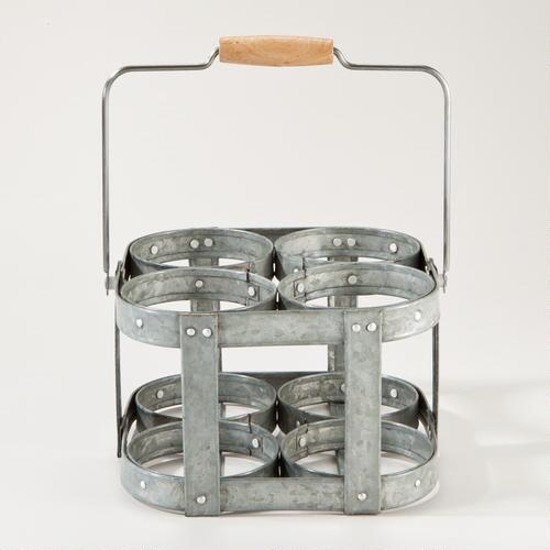 4-Section Galvanized Caddy
