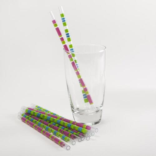 Striped Straws, Set of 12