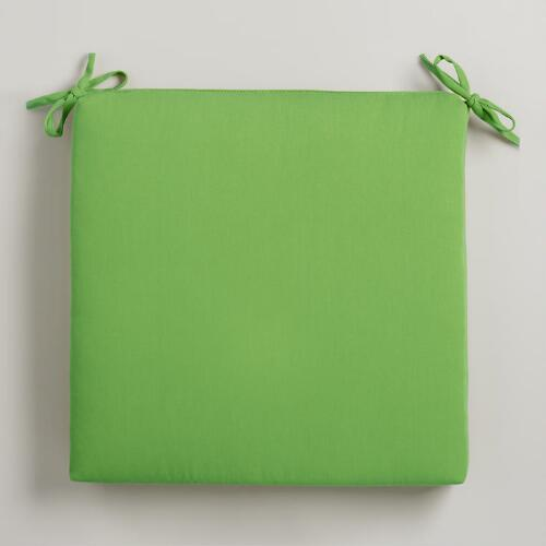 Kiwi Green Solid Chair Pad