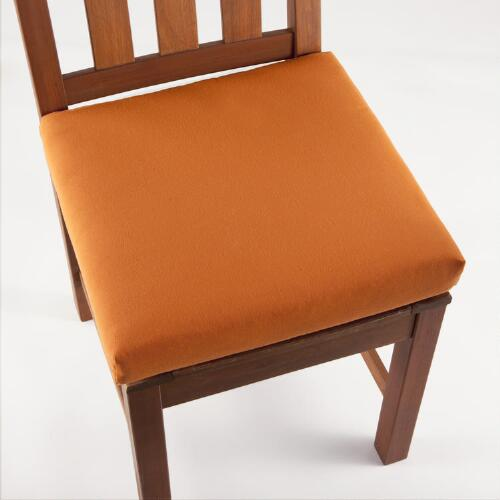 Burnt Orange Solid Chair Pad