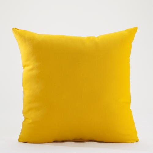 "18"" Spectra Yellow Solid Throw Pillow"