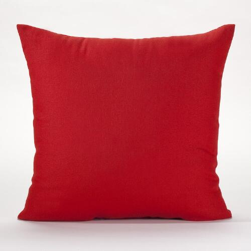 "18"" Red Solid Throw Pillow"
