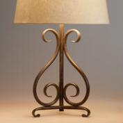 Ironwork Tripod Accent Lamp Base