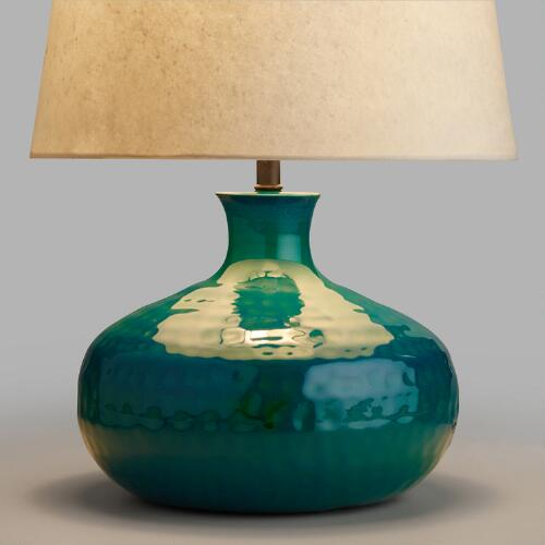 Blue Potted Accent Lamp Base