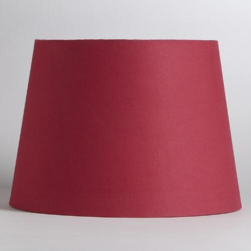 Pink & Silver Embossed Table Lamp Shade