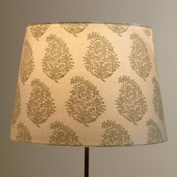 Natural Paisley Table Lamp Shade