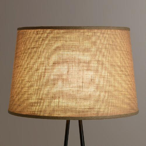 Natural Burlap Floor Lamp Shade