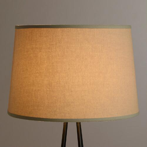 Natural Cotton Linen Floor Lamp Shade