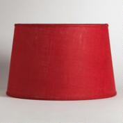 Red Burlap Floor Lamp Shade