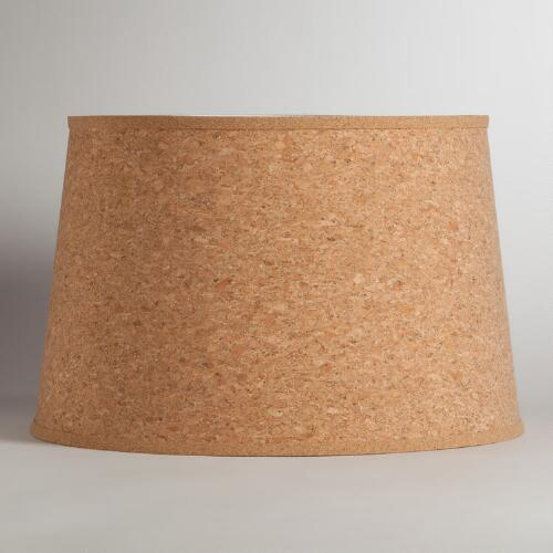 Natural Cork Floor Lamp Shade