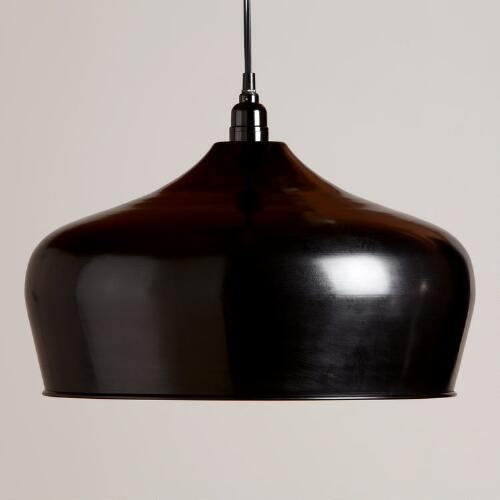 Black Iron Bell Pendant Lamp