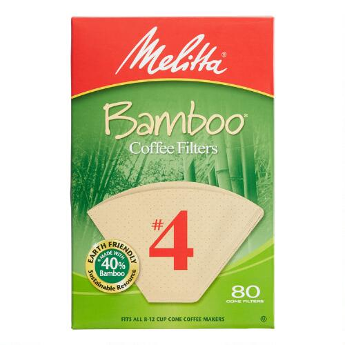 Bamboo Coffee Filters, 80-Count