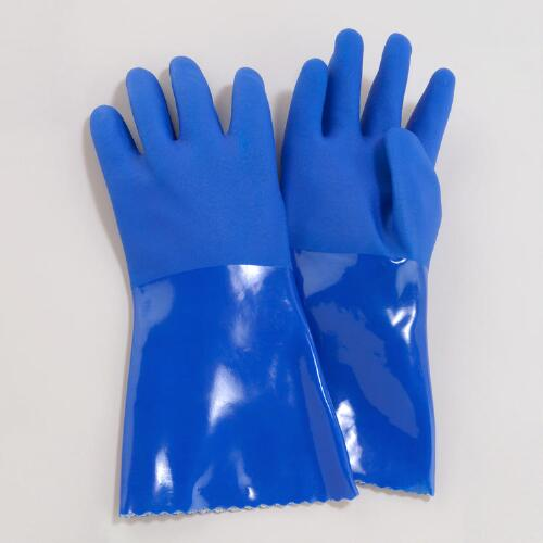 Blue Medium Cleaning Gloves
