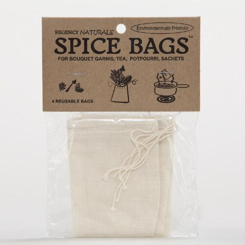 Reusable Spice Bags, Set of 4