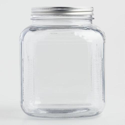 Glass Storage Jar with Aluminum Lid
