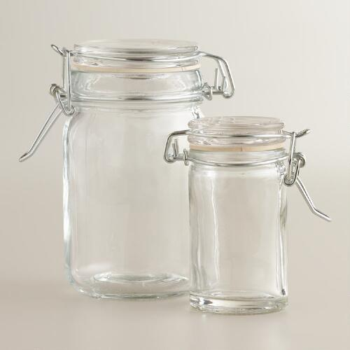 Spice Jars with Clamp Lids, Sets of 6