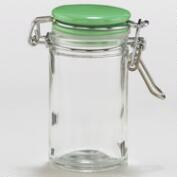 Spice Jars with Green Ceramic Lids, Set of 6