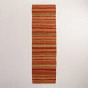 2.5' x 8' Safari Stripe Cotton Rug