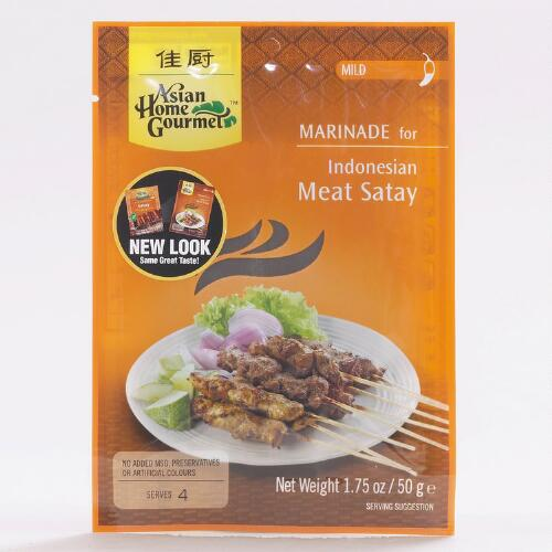 Asian Home Gourmet Indonesian Meat Satay Marinade