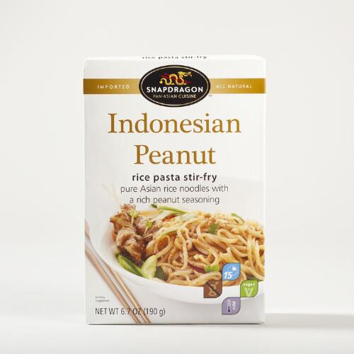 Snapdragon Indonesian Peanut Rice Pasta Stir-Fry