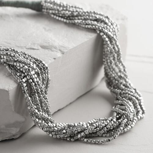 Silver Multi-Strand Necklace