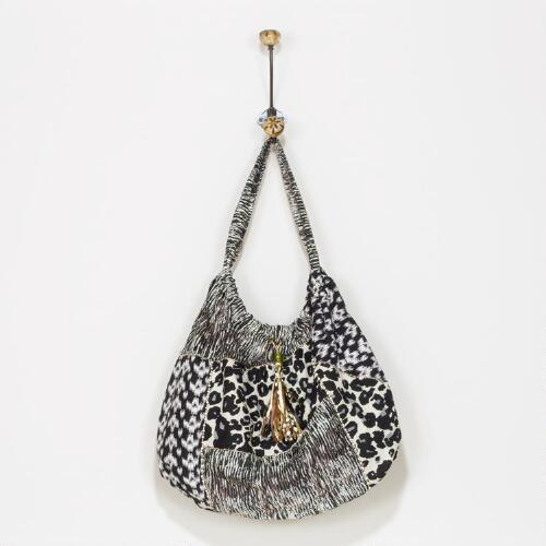 Patchwork Print Leopard Bag
