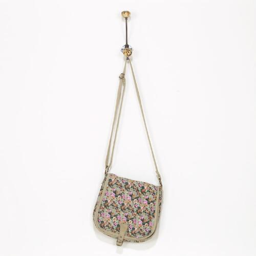 Taupe Ditsy Floral Bag