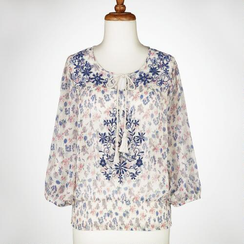 Floral Embroidery Anya Blouse