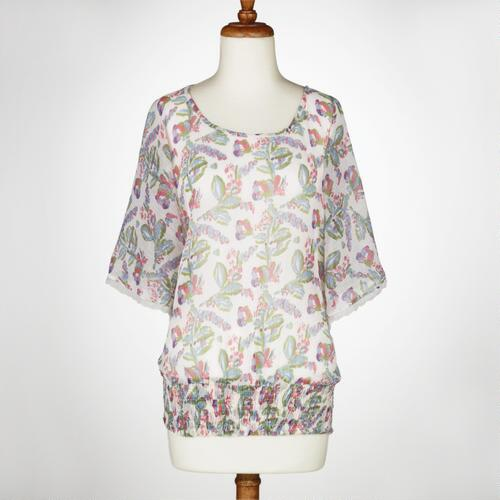 Malika Butterfly Sleeve Blouse