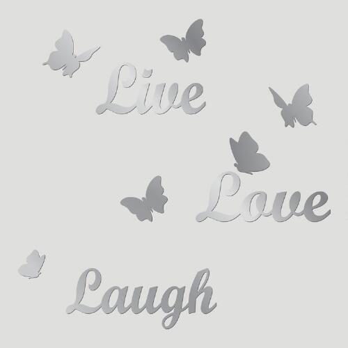 Live, Love, Laugh Mirror Wall Decal
