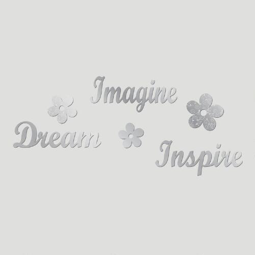 Imagine, Dream, Inspire Mirror Wall Decal