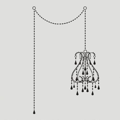 Nouveau Chandelier Wall Decal