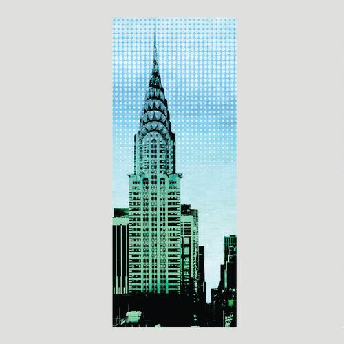 Skyscraper Canvas Wall Art Decal