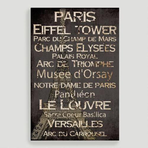 Paris Canvas Wall Art Decal