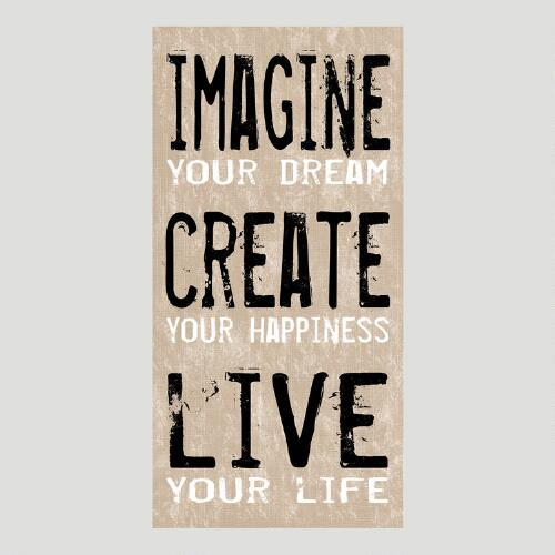 Imagine, Create, Live Canvas Wall Art Decal