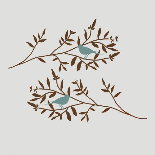 Blue Birds & Branches Wall Decals