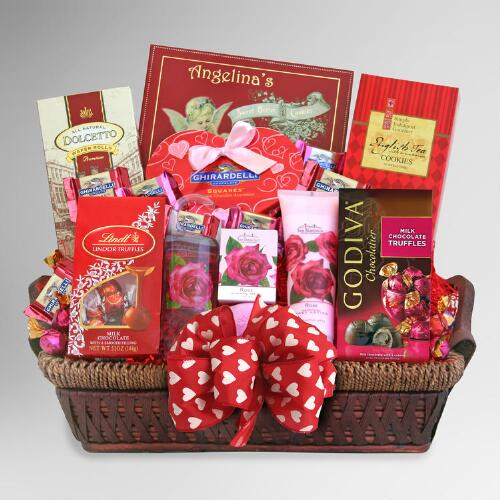 """Be Mine"" Spa and Chocolate Valentines Gift Basket"