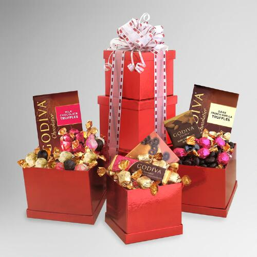 Godiva Heights of Passion Valentine Gift Tower