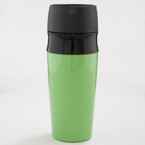 Green Double Wall Travel Mug