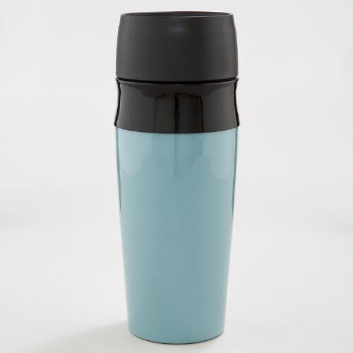 Aqua Double Wall Travel Mug